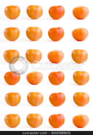 Tomato Background stock photo, Tomato texture background of repeating tomatoes by Tyler Olson