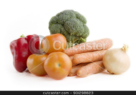 Vegetable Group stock photo, Vegetable group of food by Tyler Olson