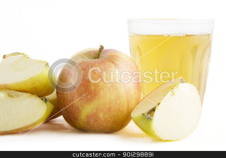 Fresh Apple Juice stock photo, A glass or apple juice. by Tyler Olson