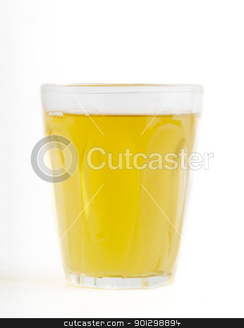 Apple Juice stock photo, A glass of fresh apple juice isolated on white. by Tyler Olson
