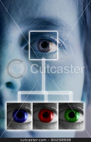 Iris Scan stock photo, An iris scan concept image by Tyler Olson
