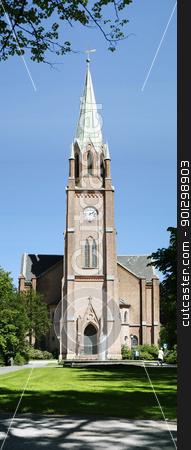 Fredrikstad Domkirke stock photo, Fredrikstad Dome Church by Tyler Olson