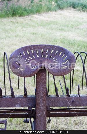 Old Rake stock photo, An old rake on the prairie by Tyler Olson