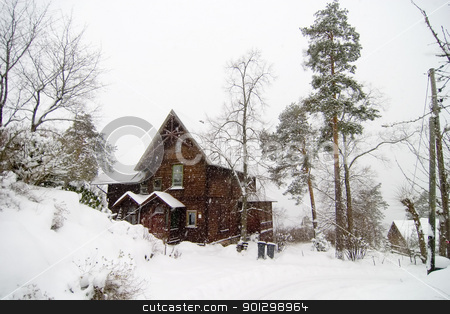 Nordstrand Villa stock photo, A large house in the Nordstrand area, Oslo Norway by Tyler Olson