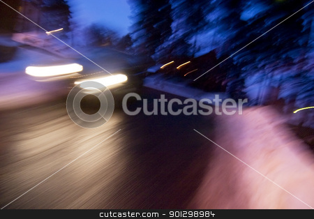 Winter Speed stock photo, Winter abstract speed image by Tyler Olson