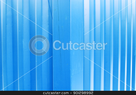 Blue Metal Texture stock photo, A blue metal abstract texture image. by Tyler Olson