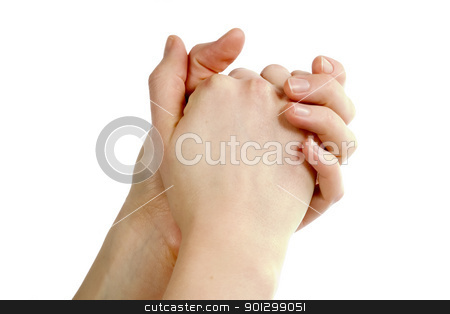 Praying Hands stock photo, Adult female hands in a folder praying position. by Tyler Olson