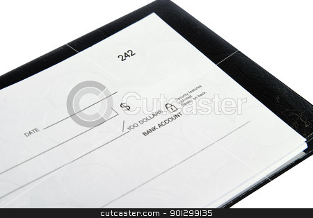 Blank Cheque. stock photo, A blank cheque isolated on white with clipping path. by Tyler Olson
