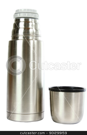 Hot Beverage stock photo, A hot liquid container, isolated on white with clipping path. by Tyler Olson