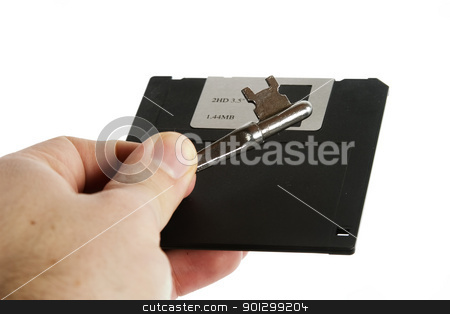 Secure Disk stock photo, A 3 1/2