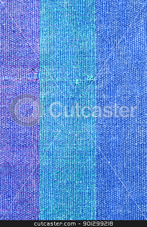Blue Cloth Texture stock photo, A blue cloth texture background image. by Tyler Olson