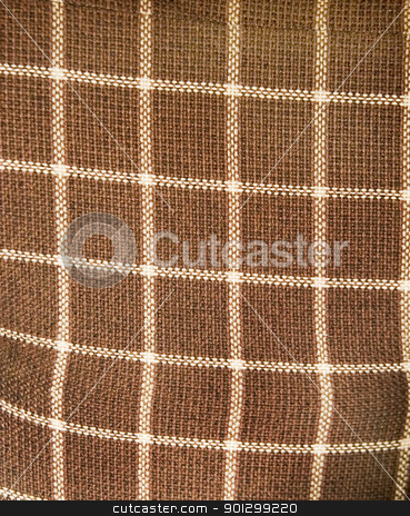 Plaid Couch Texture stock photo, An old plaid couch texture background image. by Tyler Olson