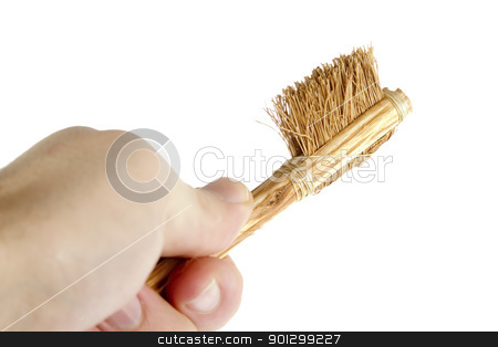 Rough Toothbrush stock photo, A large very rough bristle tooth brush. by Tyler Olson