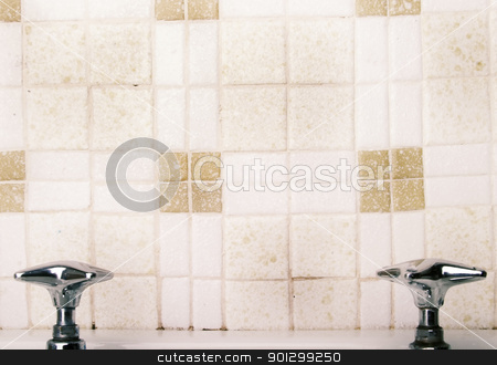 Retro Sink Faucet stock photo, A retro sink tap and faucet by Tyler Olson