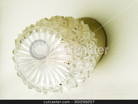 Retro Light stock photo, A retro wall lamp in an old bathroom by Tyler Olson