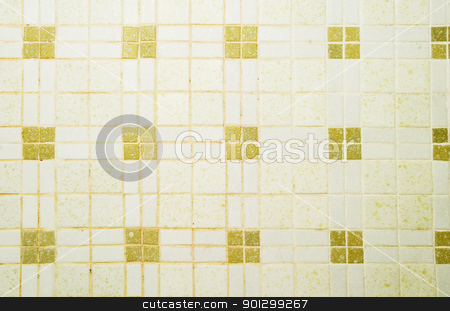 Ceramic Tile Texture stock photo, A retro ceramic tile texture image. by Tyler Olson