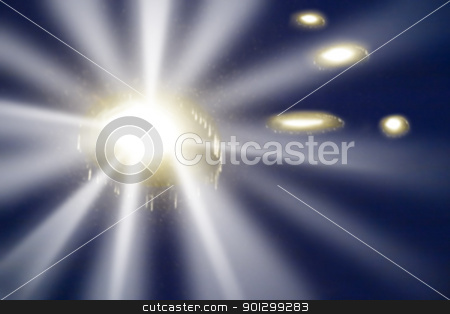 Abstract Light stock photo, A ufo at night, abstract blur. by Tyler Olson