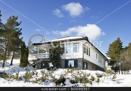 Middle Class House stock photo, A middle class house in Norway by Tyler Olson