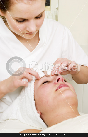 Deep Cleansing at Spa stock photo, Deep cleansing facial extraction at a beauty spa by Tyler Olson