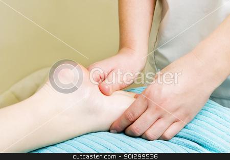 Foot massage stock photo, Foot massage, a little taste of luxury. by Tyler Olson
