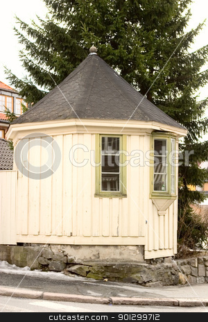 Old Building Detail stock photo, Building detail in Kongsberg, Norway by Tyler Olson