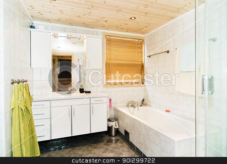 Bathroom Detail stock photo, An interior of a modern nice bathroom by Tyler Olson