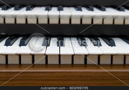 Retro Organ keyboard stock photo, detail of an old retro organ by Tyler Olson