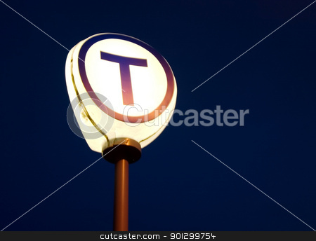 Oslo Subway stock photo, The letter T for the oslo subway (T-Bane) by Tyler Olson