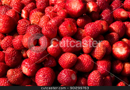 Fresh Strawberry Texture stock photo, A background of fresh strawberries by Tyler Olson