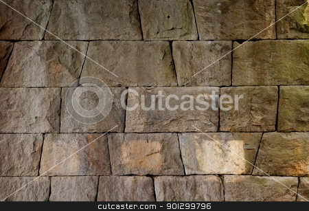 Rock Wall stock photo, A background texture of a rock wall by Tyler Olson