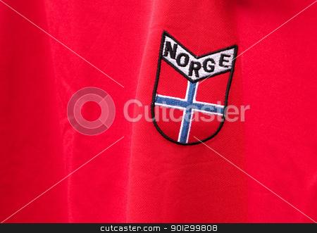 Norway Emblem stock photo, A norwegian emblem on a shirt by Tyler Olson