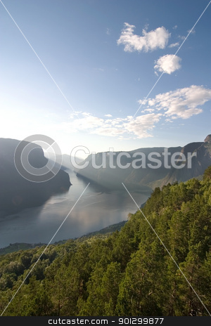 Sognefjord Norway stock photo, Sognefjord near Gudvangen in the western area of Norway. by Tyler Olson