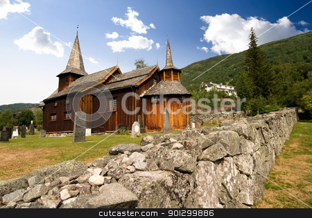 Stave Church stock photo, A stavechurch - stavkirke - in Norway located at Hol built in the 13th century. by Tyler Olson