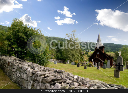 Hol Stave Church stock photo, A stavechurch - stavkirke - in Norway. by Tyler Olson
