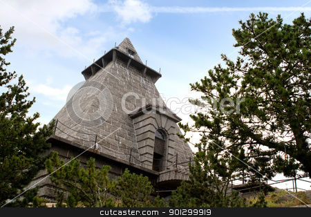 Minnehallen stock photo, Minnehallen in Stavern Norway, a memorial building for deceased sailors by Tyler Olson