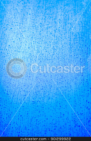 Rain Texture stock photo, Blue rain background texture image with drops running by Tyler Olson
