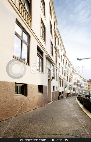 Architecture Abstract stock photo, A row of similiar buildings on a tight street in Oslo Norway by Tyler Olson