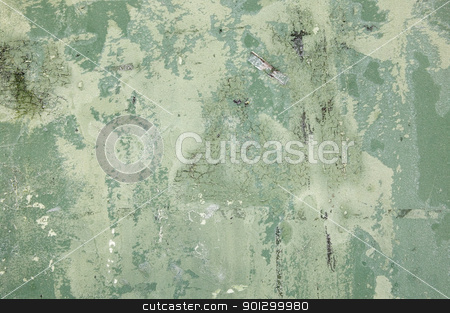 Green Grunge stock photo, A green grunge texture with scratches, stains, chipped paint and a little frost. by Tyler Olson