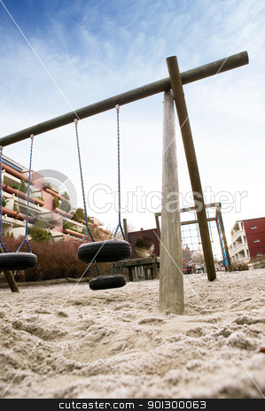 Dramatic Playground stock photo, A playing image taken at a dramatic angle by Tyler Olson