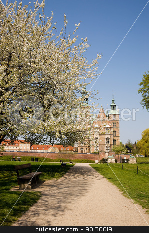 Rosenborg Castle stock photo, Rosenborg castle which is situated in the center of Copenhagen, Denmark by Tyler Olson