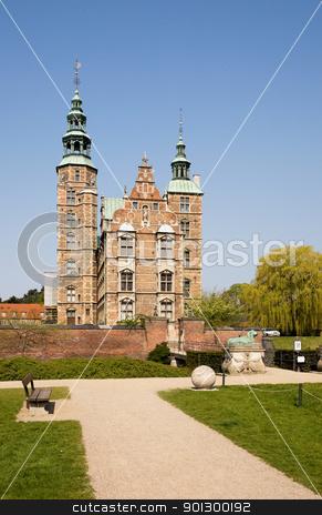Rosenborg Castle stock photo, Rosenborg castle which is situated in the center of Copenhagen, Denmark by Tyler Olson