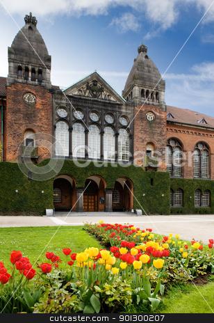 Royal Library Garden stock photo, The royal library garden in Copenhagen Denmark by Tyler Olson