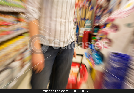 speed shopping stock photo, A woman shopping with zooming blur by Tyler Olson