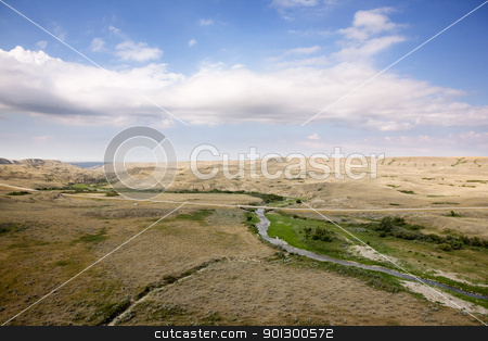 Saskatchewan Landscape stock photo, A saskatcheawn landscape in creek hills by Tyler Olson