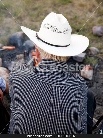 Cowboy stock photo, A cowboy viewed from the back by Tyler Olson