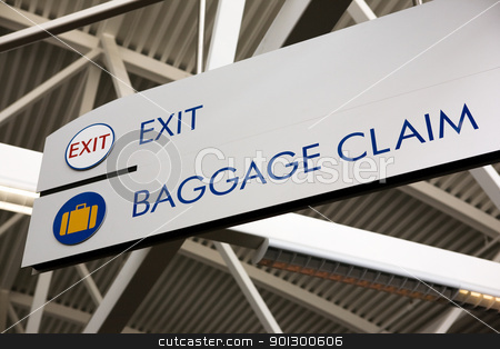 Baggage Claim & Exit Sign stock photo, Baggage claim and exit sign in an airport by Tyler Olson