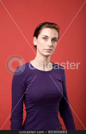 Female Portrait stock photo, A casual portrait of a brunette caucasian female by Tyler Olson