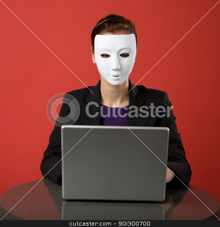 Secret Identity stock photo, A female surfing the web anonymously by Tyler Olson
