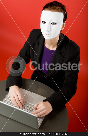 Secret Message stock photo, Writing an message online annonymously by Tyler Olson
