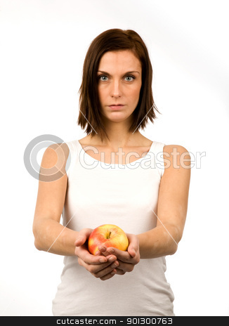 Apple stock photo, A young woman holding an apple by Tyler Olson